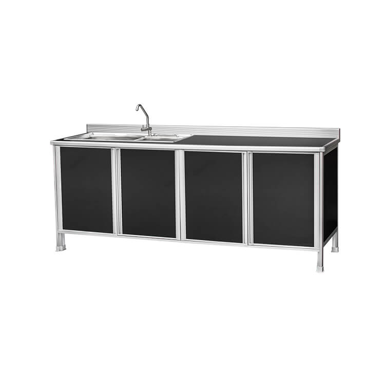 4 Panels Kitchen Cabinet and Bowl Sink